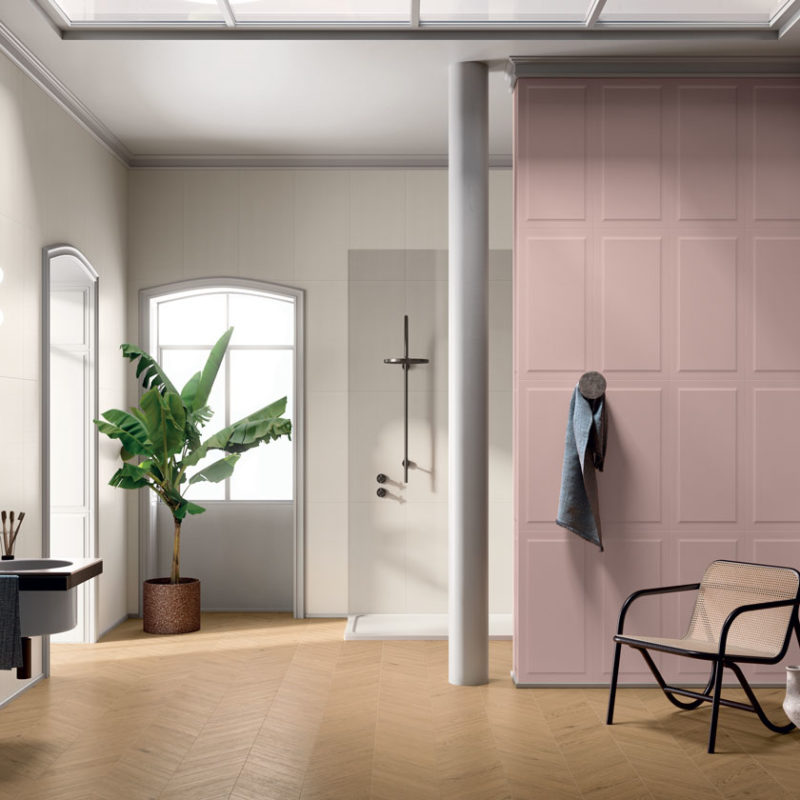 Lapicida_Bathroom_Wainscot_blushpanel+vanillaplain