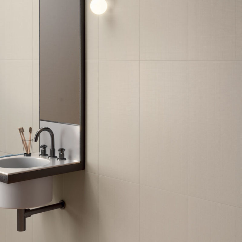 Lapicida Bathroom Wainscot Vanilla Plain