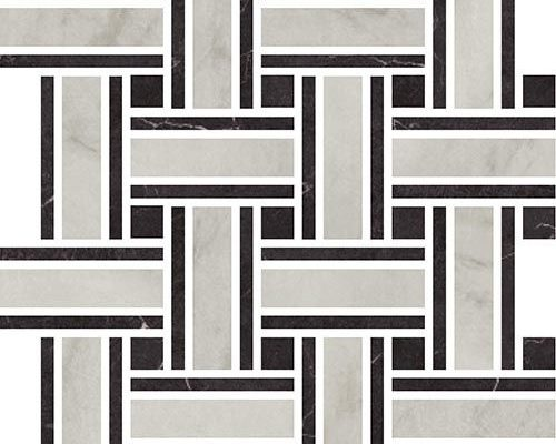 Antique Marble Porcelain Basketweave Mosaic
