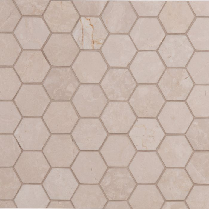 Lapicida_italian_botticino_hexagon_mosaic_Marble