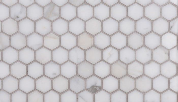 Lapicida Italian Calacatta Oro Hexagon Mosaic Marble