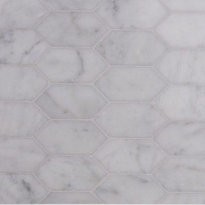 Lapicida Italian Carrara Longhexagon Mosaic Marble