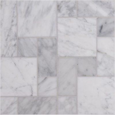 Lapicida Italian Carrara Mix Micro-opus Mosaic Marble