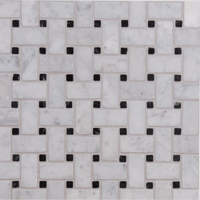 Lapicida_italian_carrara_basketweave_mosaic_small_marble