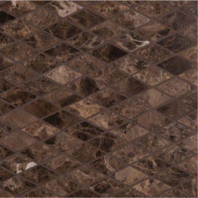 lapicida Italian Dark Emperador Diamond Mosaic Marble