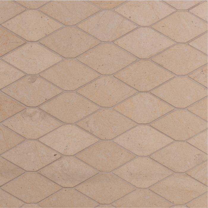 Lapicida Italian Desert Tea Long Hexagon Mosaic Medium