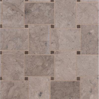 LapicidaItalian Grigio Chiaro Basketweave Mosaic Large Limestone