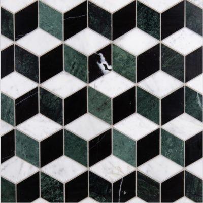 Lapicida Italian Marble Geometric Adams Mosaic Medium Marble