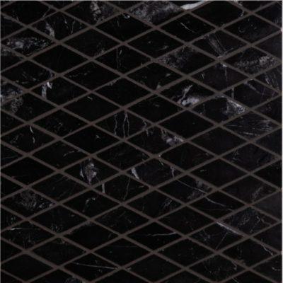 Lapicida Italian Nero Marquina Diamond Mosaic Marble