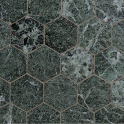 Lapicida Italian Verde Guatemala Hexagon Mosaic Large