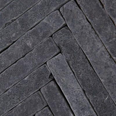 Bordeaux Black Herringbone Limestone