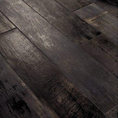 lapicida Ignis Ash Black Wood Effect Porcelain Tile