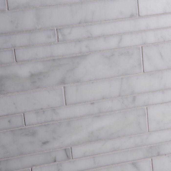 Lapicida Italian Carrara Coursed Mosaic Marble