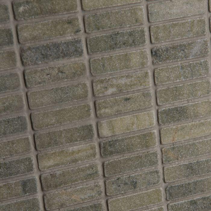 Lapicida Italian Verde Laguna Brick Mosaic Medium