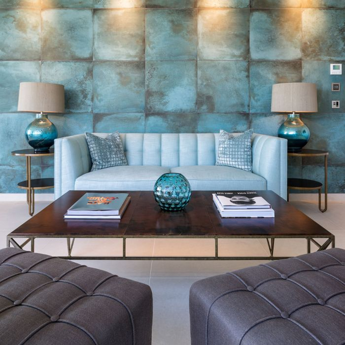 Lapicida Aqua Porcelain Tile Livingroom