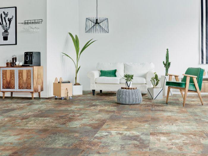Lapicida Persian Green Matt Porcelain Tile - Living Room