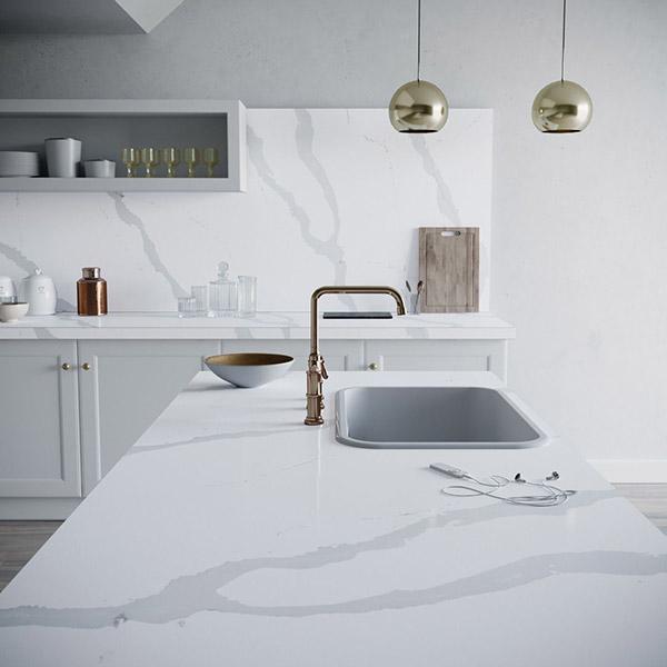 Lapicida Silestone Kitchen Bianco Calacatta