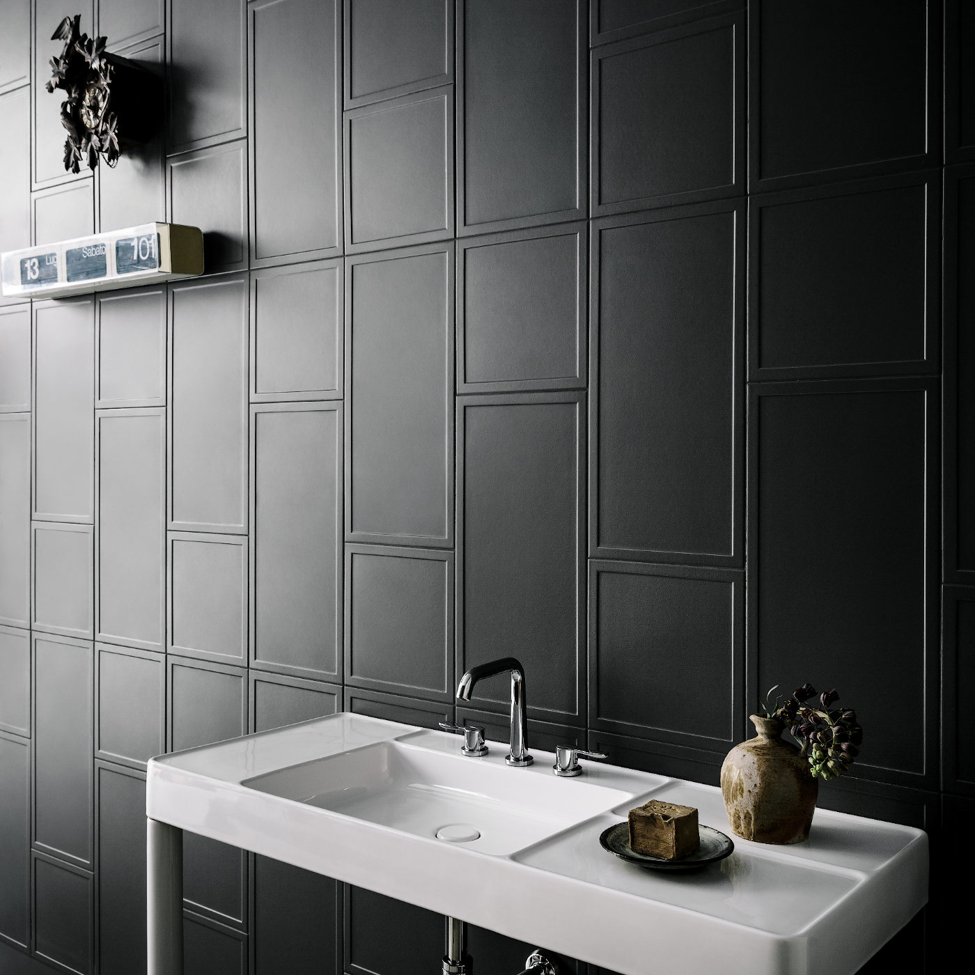 Lapicida_Graphite-Panelling_Mixed-Sizes