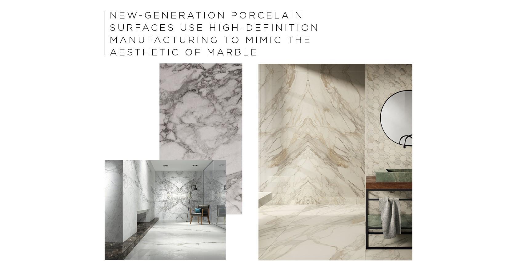 Lapicida Marble Look Porcelains